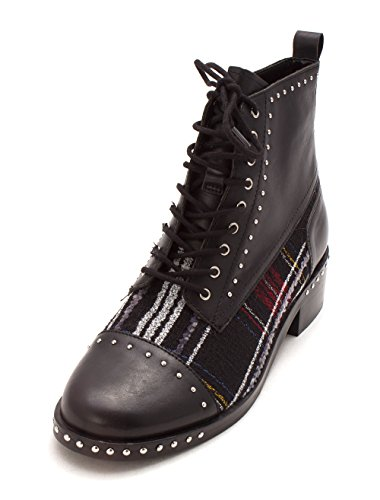 Toe Almond Boots Cassidy Womens Multi Black Fisher Fashion Fabric Marc Ankle SIOqXw88