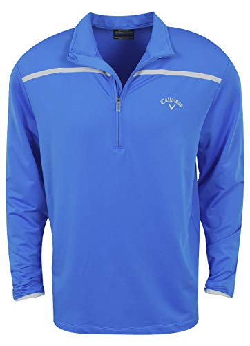Golf Mens Pullover - Callaway Golf- Long Sleeve 1/4 Zip Pullover Palace Blue