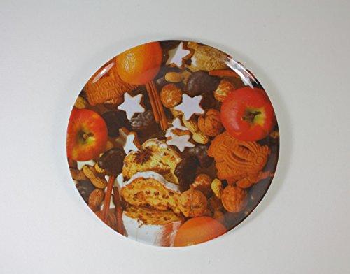 2 Stück WEIHNACHTSTELLER - GEBÄCK - 26,5 cm, Kunststoff, Retro Nostalgie Weihnachtskopf Gebäckschalen Knabberteller Weihnachtsmannmütze Weihnachtsfeier Santa Claus Nikolausmütze Zipfelmütze