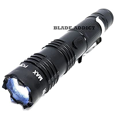 ALL Metal POLICE Stun Gun 230 Million Volt Rechargeable + LED Flashlight NEW