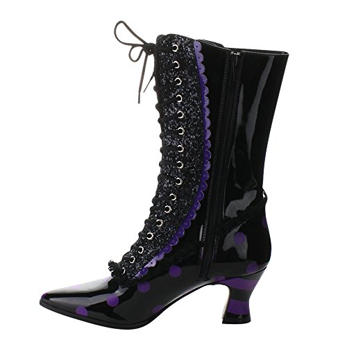 Funtasma VICTORIAN-122 Blk-Purple Pat Size UK 9 EU 42