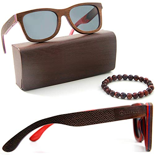 Hand Made Sunglasses - Orbitree - Real Skateboard Maple Wood