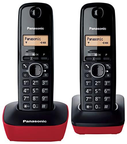 PANASONIC KX-TG1612SPR Rojo Teléfono Inalámbrico