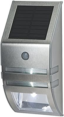 Vuelta energía Solar LED mampara con sensor de movimiento y fotocélula plata: Amazon.es: Bricolaje y herramientas