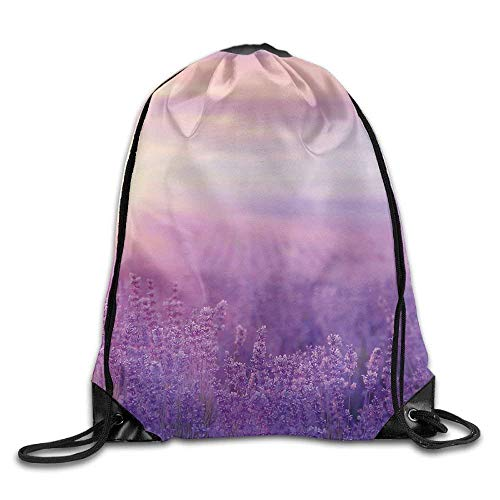 Horizon Over Lavender Field In French Provence Floral Rural Picture Image Violet Bags Travel Backpack ()