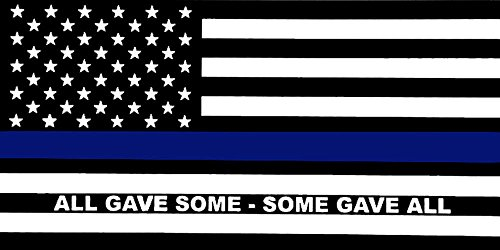 Ant Enterprises Wholesale Lot of 6 Police Thin Blue Line Gave Some Gave All Decal Bumper Sticker