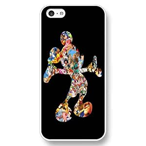 Diy Disney Cartoon Mickey Mouse White Hard Plastic Plastic For HTC One M7 Case Cover