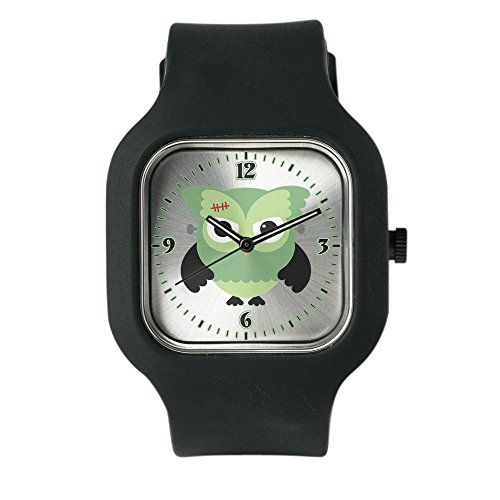 Black Fashion Sport Watch Spooky Little Owl Frankenstein Monster