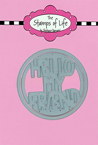 The Stamps of Life Hello My Friend Circle Dies for Card Making Scrapbooking and DIY Crafts by Stephanie Barnard - Sentiments Die-Cuts