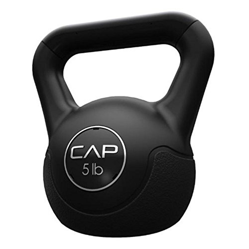 CAP Barbell Vinyl Coated Cement Kettlebell, 5 lb