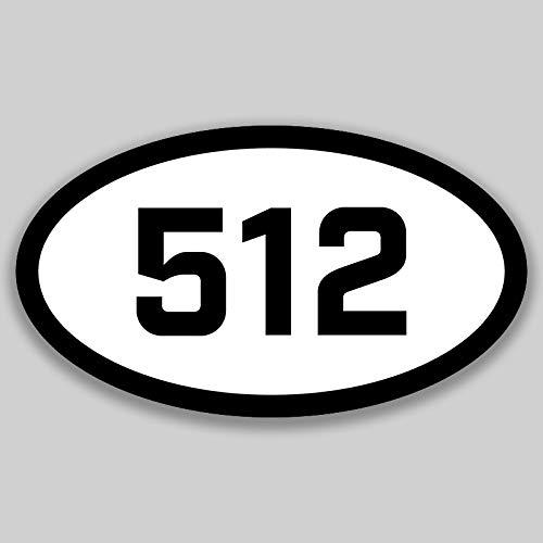 DHDM 512 Area Code Sticker Texas Austin Cedar Park Georgetown City Pride Love | 5-Inches by 3-Inches | Premium Quality Vinyl UV Resistant Laminate PD2322