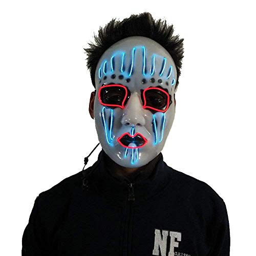 Halloween Mask with Neon Luminous Wire Glowing Ghost