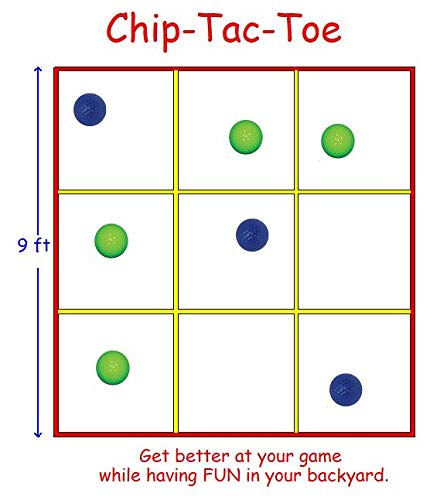(Chip Tac Toe, A Back Yard Golf Game, Chipping and Putting. The Rules are Simple, The Competition is Fierce. (Net, Ball and Tee's))