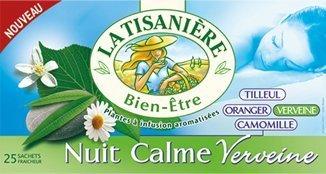 La Tisaniere French Tisane - 25 Counts (Nuit Calme Verveine (Tranquil night Verbena))