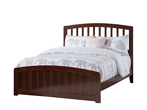 Atlantic Furniture AR8836034 Richmond Traditional Bed with Matching Foot Board, Full, Walnut