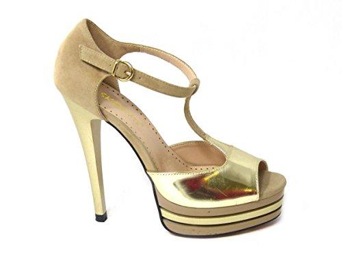 Sandali Mid Pompe Shoes Low Womens Alla Slip Cinturino 2 Ladies 067 Tacco Sko's Caviglia On Court 12 Taglia Alto Nudo xO6pRnpgtw