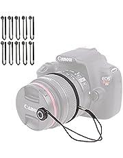 Foto&Tech Camera Lens Cap Keeper Holder with Elastic String Anti-Loss, Compatible with Canon Nikon Sony Panasonic Fujifilm Pentax Sigma DSLR SLR Evil Mirrorless Cameras Video Cameras (10 Pack)