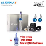 Professional Electric Auto Derma Pen Dr Pen Ultima A6 Makeup Tattoo Machine  as Picture 12Pcs Accessories 12Pins/36Pins Cartridges 0 25mm for Skin