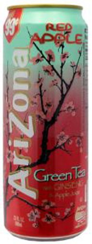 Arizona Red Apple Green Tea, 23-Ounces (Pack Of 24) by AriZona