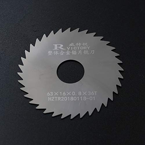 (Maslin 5Pcs/set Round Saw Blades Tungsten Steel Dia 63mm Circular Saw Blades Cutting Tools - (Outer Diameters: 63mm, Thickness: 1.3mm))