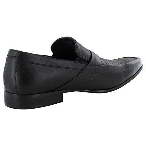 Leather Steve On Black Loafer Shoe Slip Hamlet Mens Madden FFwtqA1