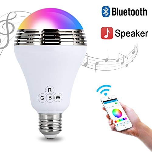 Autai LED Light Bulb with Smart Bluetooth Speaker and APP Control RGB Multi Color Changing Dimmable (Speaker Best L2 App)
