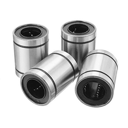 Liyafy LM16UU 16mmx28mmx37mm Linear Motion Bushing Ball Bearing Silver Tone ()