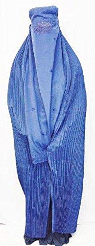Desert Dress Authentic Afghan Ladies Blue Burqa Jilbab Afghanistan Taliban Veil