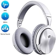 Mpow H5 [Upgrade] Active Noise Cancelling Headphones, Superior Deep Bass Bluetooth Headphones Over Ear, 30Hrs