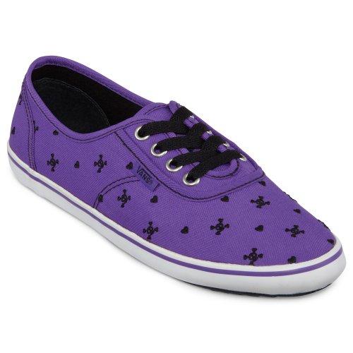 Vans Cedar Skulls Embroidery Purple Black Violett