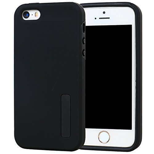DualPro Shockproof Case for Apple iPhone SE/5S/5 (Black) - 9