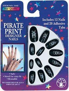 Pirate Print Nails (Rubie's Costume Co Pirate Print Nails Costume by Rubie's)