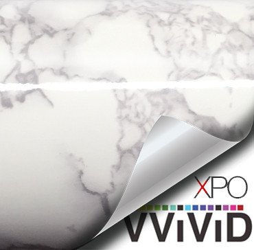"VViViD White Marble Gloss Sheet Vinyl Film 24"" Wide (Medium Size) Roll"