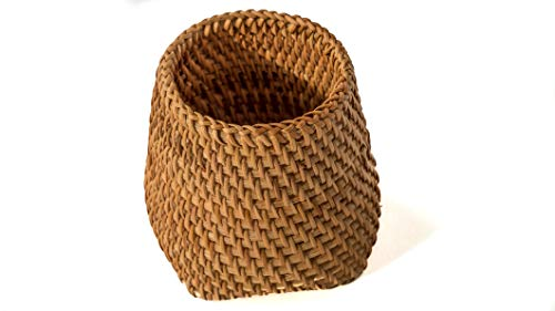 Rattan Holder - Handwoven All Natural Rattan Pencil, Utensil, Straw, Napkin Holder, Made by Vietnamese Artisans (Opening 3