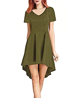 Ineffable Women's Casual Loose Swing Basic Cotton Dress