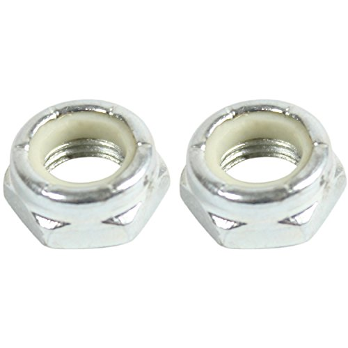 Generic Kingpin Nuts Silver for Skateboard Longboard Trucks 2 pc Set