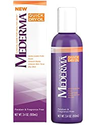 Mederma Quick Dry Oil – formulated to improve the appearance of scars, stretch marks, uneven skin tone and dry skin - #1 scar care brand - fragrance-free, paraben-free - 3.4 ounce