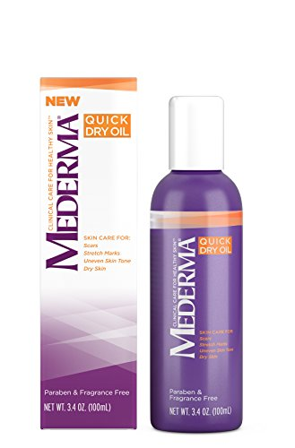 Mederma Quick Dry Oil - for scars, stretch marks, uneven skin tone and dry skin - #1 scar care brand - fragrance-free, paraben-free - 3.4 ounce (Best Oil For Scars Reviews)