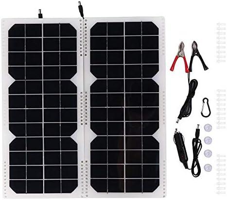 Ymiko 20 W monokristallines Silizium-Außenklapp-Solarpanel Flexible Solarpanel-Baugruppe 12 V monokristallines Solarpanel-Modul-Kit