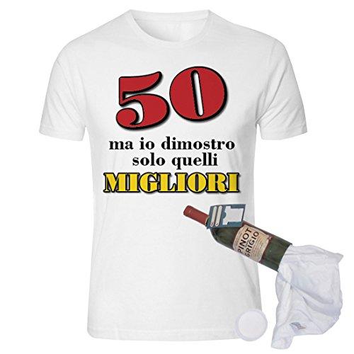 Bombo T Shirt In Bottiglia Compleanno 50 Anni