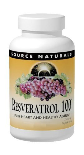 SOURCE NATURALS Resveratrol 100 Mg Tablet, 30 Count
