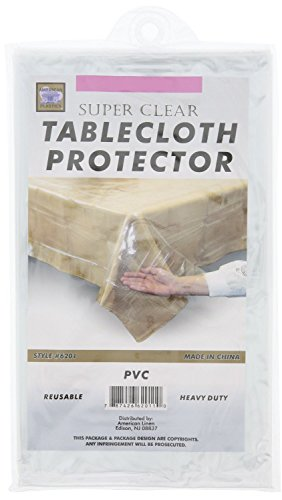 Clear Plastic Tablecloth Protector - PVC Tablecloth Cover -