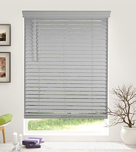 (Arlo Blinds Cordless 2 Inch Faux Wood Horizontal Blinds - Size: 28.5