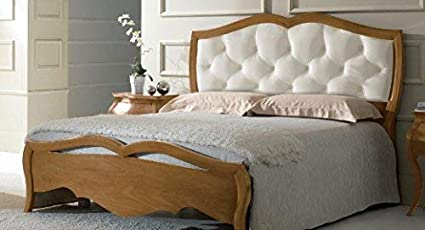 Dafne Italian Design - Cama de matrimonio de madera clara ...