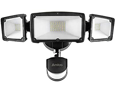40W Motion Lights Black