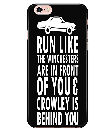 iPhone 7/7s/8 Case, Supernatural Winchester Case for Apple iPhone 7/7s/8, Run Like The Winchesters iPhone Case (iPhone 7/7s/8 Case - Black)