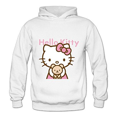 Lennakay Work Adult's Hello Kitty Hooded Sweatshirt With No Pocket White For Woman SizeXL (Hello Kitty Wedding Dress)