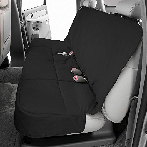 Textured Classics Charcoal - Canine Covers 2nd Row Semi-Custom Fit Seat Protector - Polycotton (Charcoal Black)