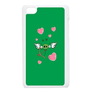 iPod Touch 4 Case White Angry Birds Angel Pig SLI_555160