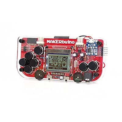 MAKERbuino standard kit - soldering kit - Arduino - DIY retro game console for kids - learn electronics and programming - micro USB: Toys & Games